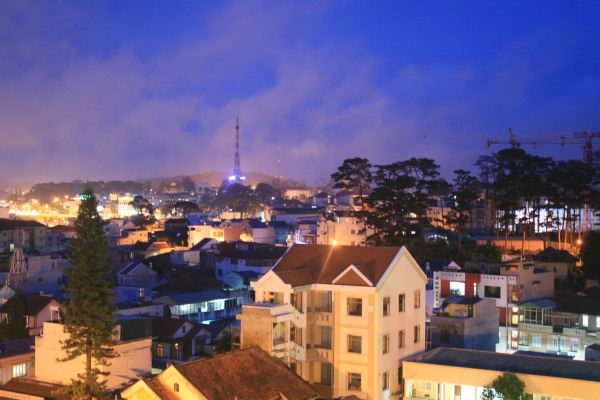 Night time in Dalat, Vietnam