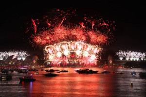 2012 NYE Fireworks in Sydney Harbour. Source: http://www.sydneynewyearseve.com/fireworks/archive-gallery/