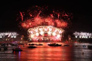 2012 NYE Fireworks in Sydney Harbour. Source: http://www.sydneynewyearseve.com/fireworks/archive-gallery/