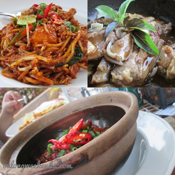 Peranakan noodles, chicken 3 ways and musses in a pot