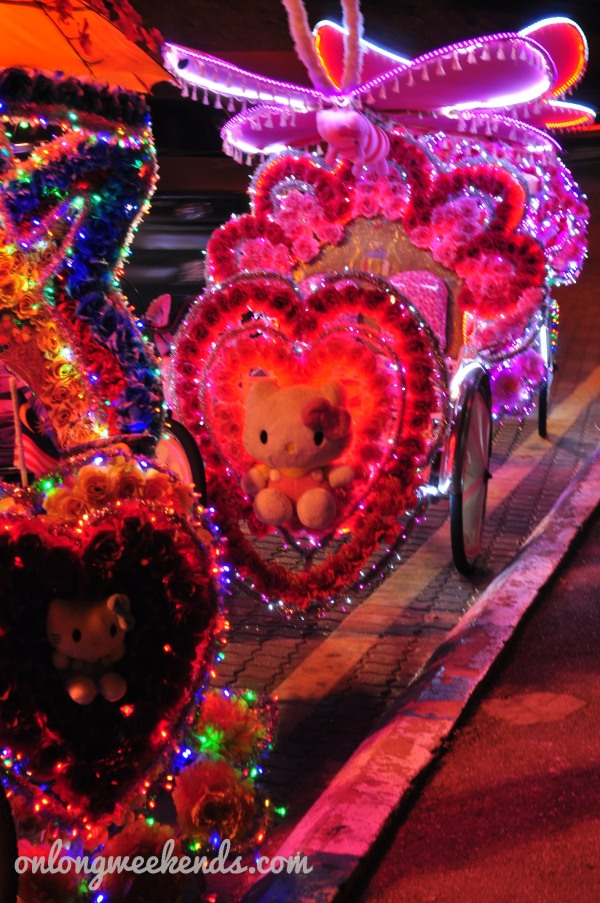 Parade of Hello Kitty rickshaws
